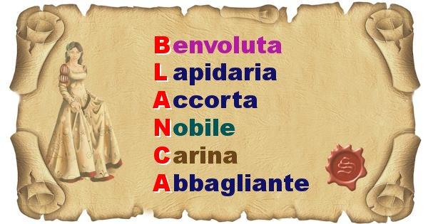Blanca - Significato letterale del nome Blanca