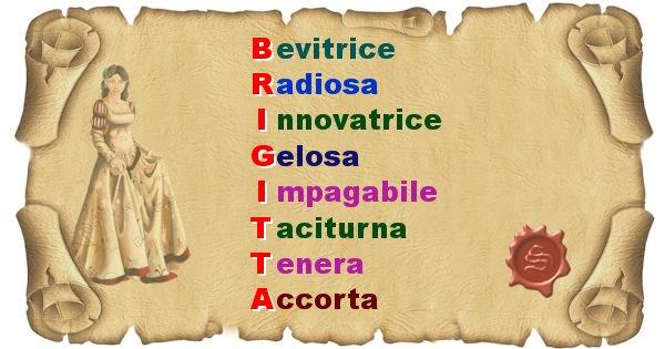Brigitta - Significato letterale del nome Brigitta