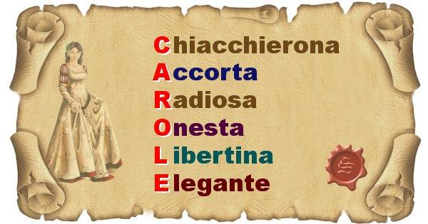 Carole - Significato letterale del nome Carole