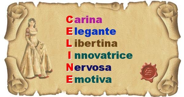 Celine - Significato letterale del nome Celine