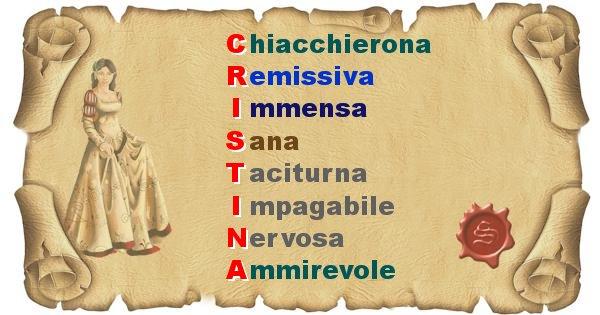 Cristina - Significato letterale del nome Cristina