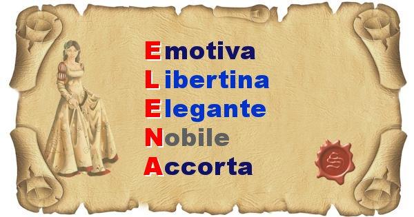 Elena - Significato letterale del nome Elena