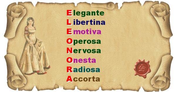Eleonora - Significato letterale del nome Eleonora