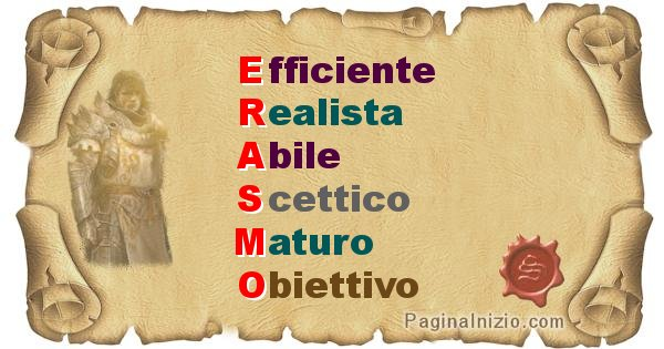 Erasmo - Significato letterale del nome Erasmo
