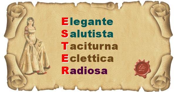 Ester - Significato letterale del nome Ester