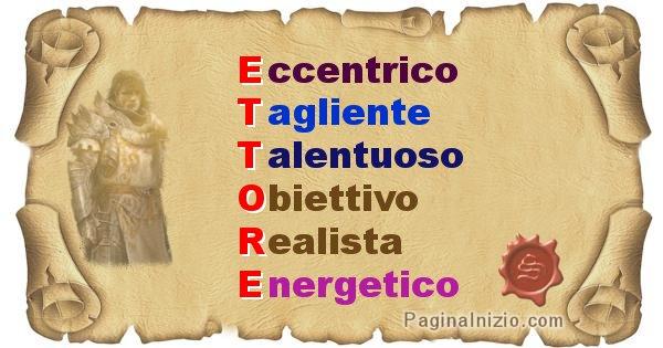 Ettore - Significato letterale del nome Ettore