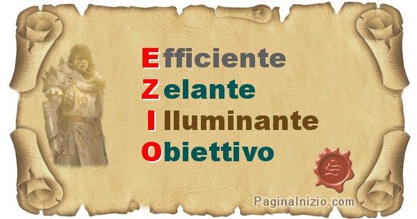 Ezio - Significato letterale del nome Ezio