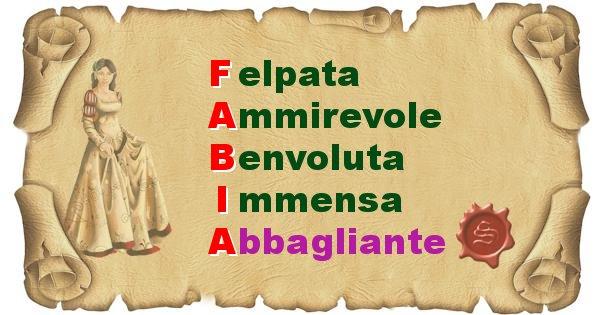 Fabia - Significato letterale del nome Fabia