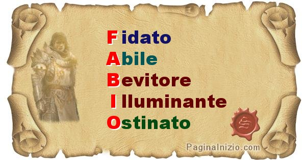 Fabio - Significato letterale del nome Fabio