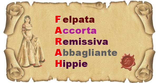 Farah - Significato letterale del nome Farah