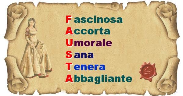 Fausta - Significato letterale del nome Fausta