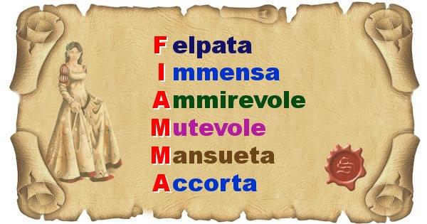 Fiamma - Significato letterale del nome Fiamma