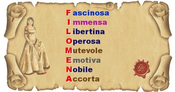 Filomena - Significato letterale del nome Filomena