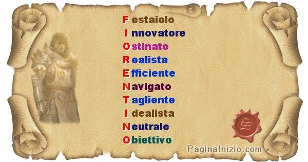 Fiorentino - Significato letterale del nome Fiorentino