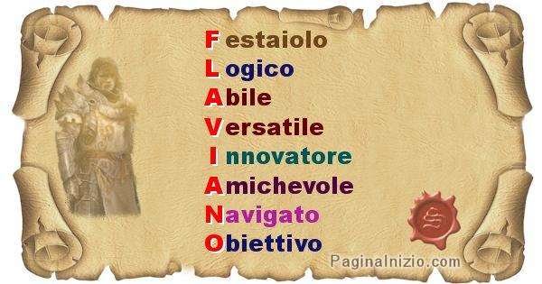Flaviano - Significato letterale del nome Flaviano