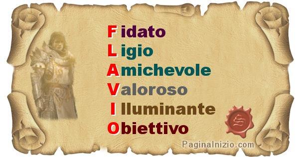Flavio - Significato letterale del nome Flavio