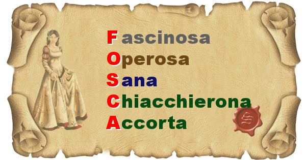 Fosca - Significato letterale del nome Fosca