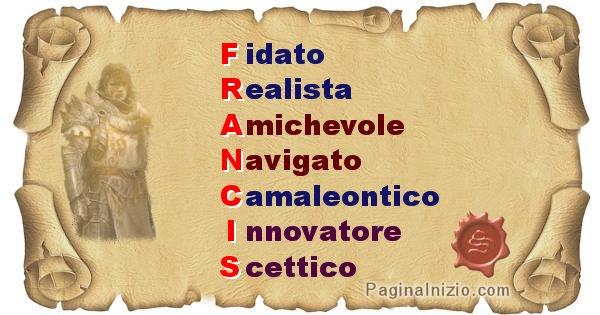 Francis - Significato letterale del nome Francis