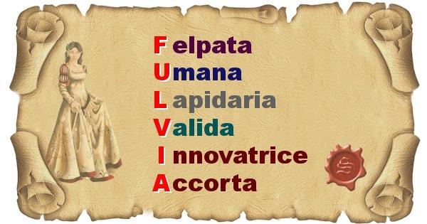 Fulvia - Significato letterale del nome Fulvia