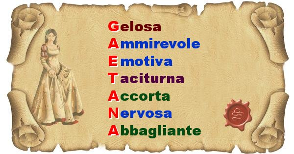 Gaetana - Significato letterale del nome Gaetana