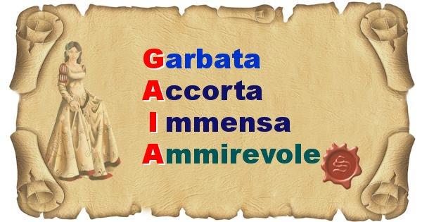 Gaia - Significato letterale del nome Gaia