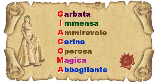 Giacoma - Significato letterale del nome Giacoma