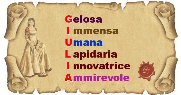 Giulia - Significato letterale del nome Giulia