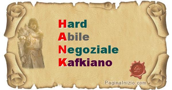 Hank - Significato letterale del nome Hank