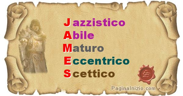 James - Significato letterale del nome James