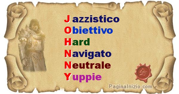 Johnny - Significato letterale del nome Johnny