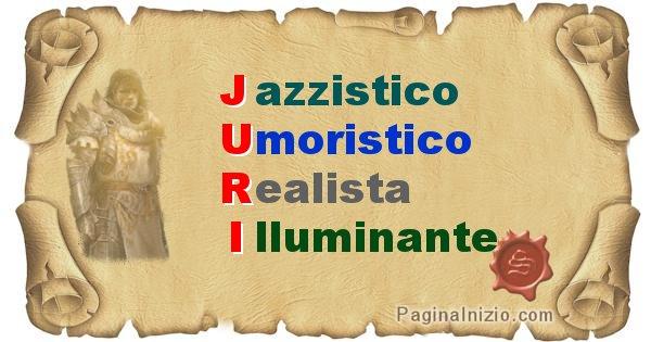 Juri - Significato letterale del nome Juri