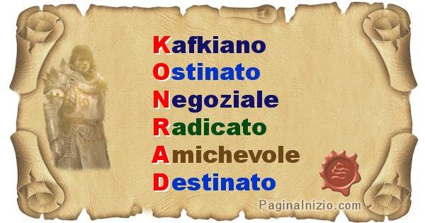 Konrad - Significato letterale del nome Konrad