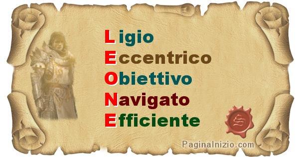 Leone - Significato letterale del nome Leone