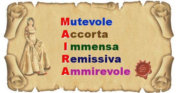 Maira - Significato letterale del nome Maira