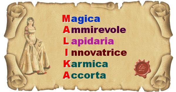 Malika - Significato letterale del nome Malika
