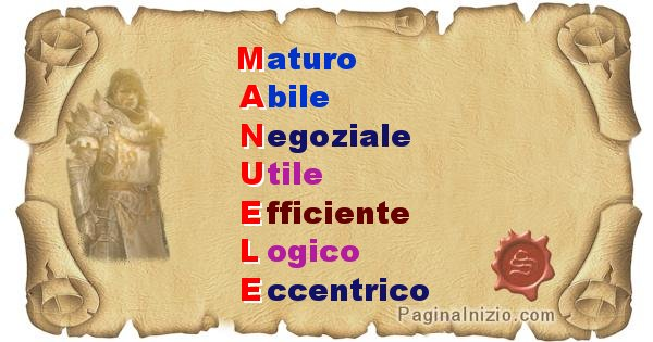 Manuele - Significato letterale del nome Manuele
