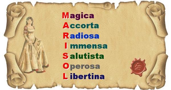 Marisol - Significato letterale del nome Marisol