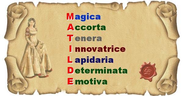 Matilde - Significato letterale del nome Matilde