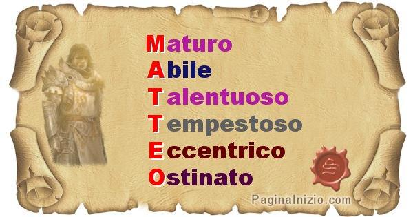 Matteo - Significato letterale del nome Matteo