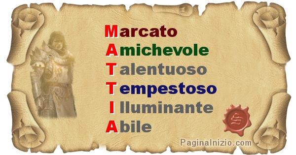 Mattia - Significato letterale del nome Mattia
