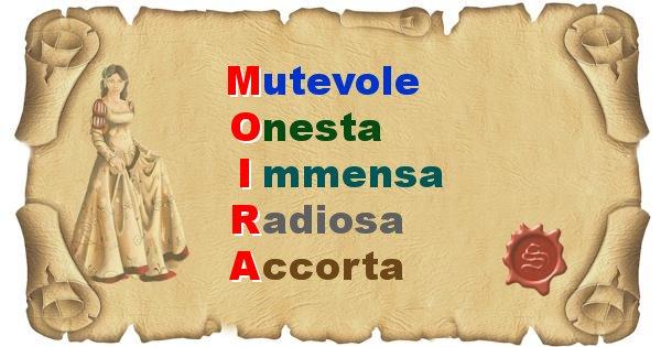 Moira - Significato letterale del nome Moira