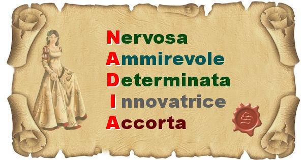 Nadia - Significato letterale del nome Nadia