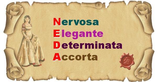 Neda - Significato letterale del nome Neda