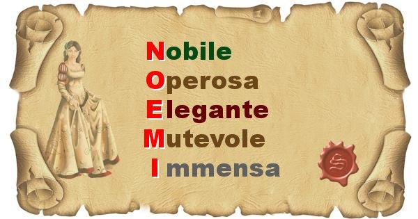 Noemi - Significato letterale del nome Noemi