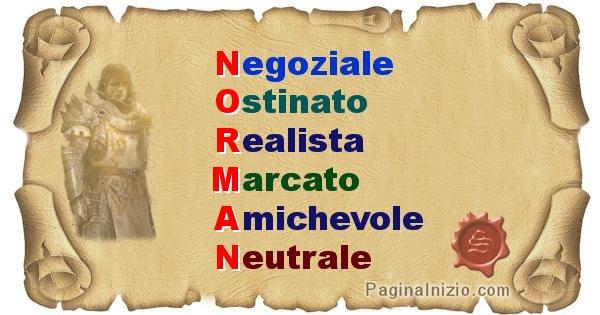 Norman - Significato letterale del nome Norman