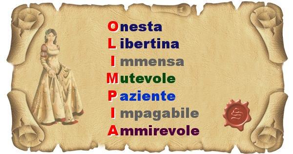 Olimpia - Significato letterale del nome Olimpia