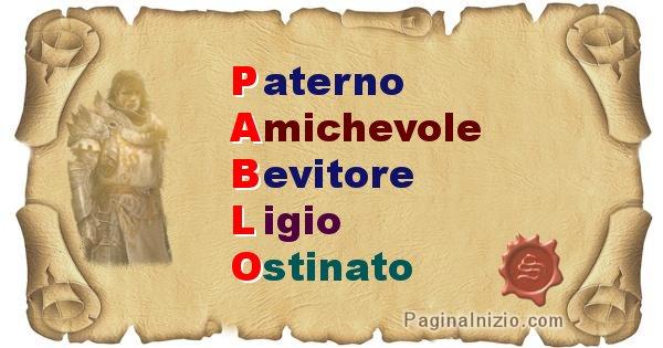 Pablo - Significato letterale del nome Pablo