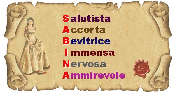 Sabina - Significato letterale del nome Sabina