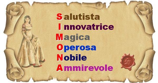 Simona - Significato letterale del nome Simona