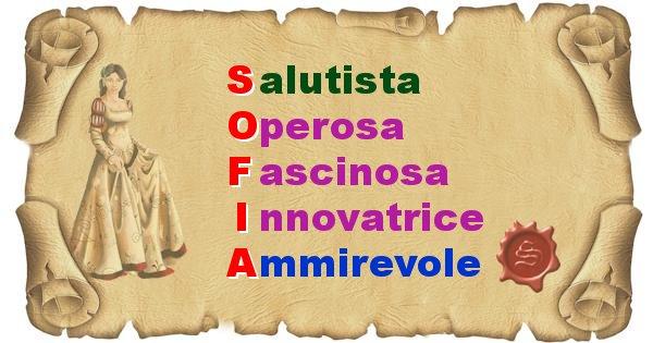 Sofia - Significato letterale del nome Sofia